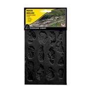 Woodland Scenics Model Railroad Landscape Creek Bank Rock Molds - Set of 2