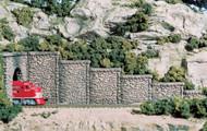 Woodland Scenics N Scale Retaining Walls (2-Pack) Plaster Random Stone