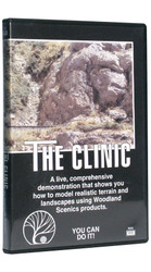 Woodland Scenics Model Railroad Landscape DVD - The Clinic (Landscaping How-To)