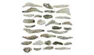 Woodland Scenics Model Railroad Landscape Creek Bed Rocks (Ready Rocks) 31 Piece