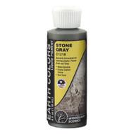 Woodland Scenics Model Railroad Earth Color Liquid Pigment 4oz Bottle Stone Gray