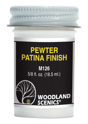 Woodland Scenics Pewter Patina Finish for Metal Kits 7/8oz 25.9mL
