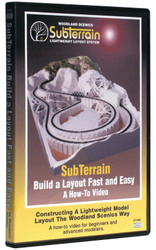 Woodland Scenics Model Railroad SubTerrain DVD - Build a Layout Fast & Easy