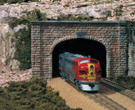 Woodland Scenics N Scale Double Track Tunnel Portals (2-Pack) Plaster Cut Stone