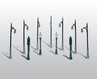 Woodland Scenics HO Scale Scenic Details Metal Street/Traffic Lights Nonworking