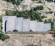 Woodland Scenics N Scale Retaining Walls (2-Pack) Plaster Concrete