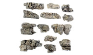 Woodland Scenics Model Railroad Landscape Rock Outcroppings (Ready Rocks) 13 Pc