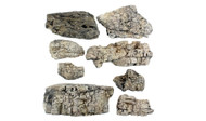 Woodland Scenics Model Railroad Landscape Faceted Rocks (Ready Rocks) 8 Pieces