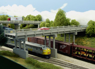 Rix N Scale Building/Structure Kit 150ft Early Highway Overpass with 4 Piers