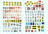 JL Innovative Designs HO Scale Detail Parts - Road Signs Uncommon Street/Parking