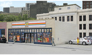 Walthers Cornerstone HO Scale Building/Structure Kit 24-Seven Quick Mart
