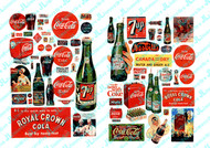JL Innovative Designs HO Scale Detail Parts - Vintage Soft Drink Signs 1930-1960