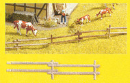 "Noch N Scale Detail Parts - Rustic Field Fence2-1/4 x 1/4"" Sections (18-Pack)"