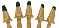 JL Innovative Designs HO Scale Detail Parts - Highway Cones 1950s Yellow 5-Pack