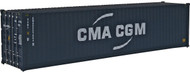 Walthers HO Scale 40' Hi-Cube Corrugated Shipping Container CMA-CGM (New Logo)