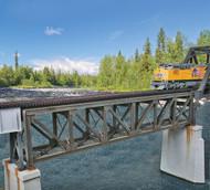Walthers Cornerstone HO Scale 109' Single Track Pratt Deck Truss Railroad Bridge