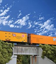 Walthers Cornerstone HO Scale 30ft. Single Track Railroad Deck Girder Bridge