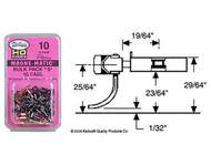 Kadee HO Scale #10 Bulk Pack #5 Magne-Matic Knuckle Couplers Med Centerset 10 Pr