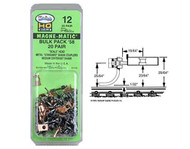Kadee HO Scale #12 Bulk Pack #58 Scale Magne-Matic Knuckle Couplers 20 Pair