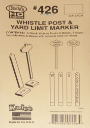 Kadee HO Scale #426 Whistle Post & Yard Limit Marker Signs (Unassembled 12-Pack)