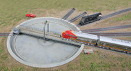 Walthers Cornerstone HO Scale Building/Structure Kit 110ft. Diameter Turntable