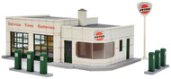 Walthers Cornerstone HO Scale Building Kit Winner's Circle Petro Gas Station