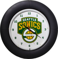 NBA Seattle Sonics Light Up Everbright Neon Wall Clock