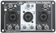Peavey Three Channel Mixer Expansion Module XLR 1/4 Inch Inputs Phantom Power