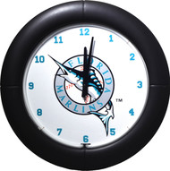 MLB Miami Florida Marlins Team Neon Everbright Wall Clock
