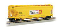 Bachmann HO Scale 56ft ACF CenterFlow Covered Hopper Shell Oil Company