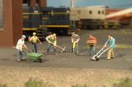 Bachmann HO Scale SceneScapes Figure Working People Construction Workers 6-Pack