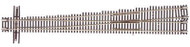 Atlas N Scale Code 55 #10 Left-Hand Turnout/Switch Model Train Track