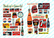 JL Innovative Designs HO Scale Detail Parts - Soft Drink Signs II