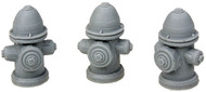Bar Mills O Scale Model Railroad Detail Parts - Fire Hydrants