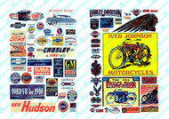 JL Innovative Designs HO Scale Detail Parts - Vintage Motorcycle/Auto Signs