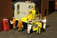 Bachmann O Gauge/Scale Figure/People Set Mechanics (6-Pack)