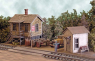 Bar Mills HO Scale Model Railroad Building/Structure Kit - Office Cranberry Yard