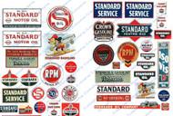 JL Innovative Designs HO Scale Details - Vintage Gas Station Signs Standard Oil