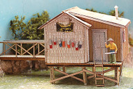 Bar Mills HO Scale Model Railroad Building/Structure Kit - The Fishing Shack