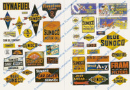 JL Innovative Designs HO Scale Detail Parts - Vintage Gas Station Signs Sunoco