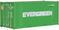 Walthers HO Scale 20' Ribbed-Side Shipping Intermodal Container Evergreen