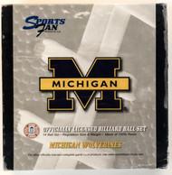 NCAA Sports Fan Michigan Wolverines Pool/Billiard Ball Full Set