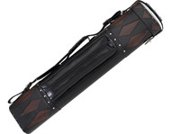 Pro Series 3x6 3B6S Black/Brown Diamond Inlays Pool/Billiards Hard Cue Case