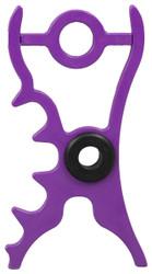 Q-Claw Jump Caddy Pool Cue Bridge Head Small Jump Shot Bullseye - Purple