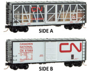 Micro-Trains MTL N-Scale Canadian National/CN Impact Box Car/Open Side #87989