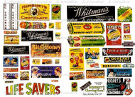 JL Innovative Designs HO Scale Detail - Vintage Candy Poster/Signs 1930s-1950s