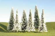 Bachmann Snow-Covered Winter Pine Trees SceneScapes 5 to 6in 12.7 to 15.2cm 6-Pk