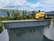 Walthers Cornerstone HO Scale 90ft. Single Track Railroad Deck Girder Bridge