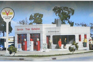 Walthers Cornerstone N Scale Building/Structure Al's Victory Service Gas Station