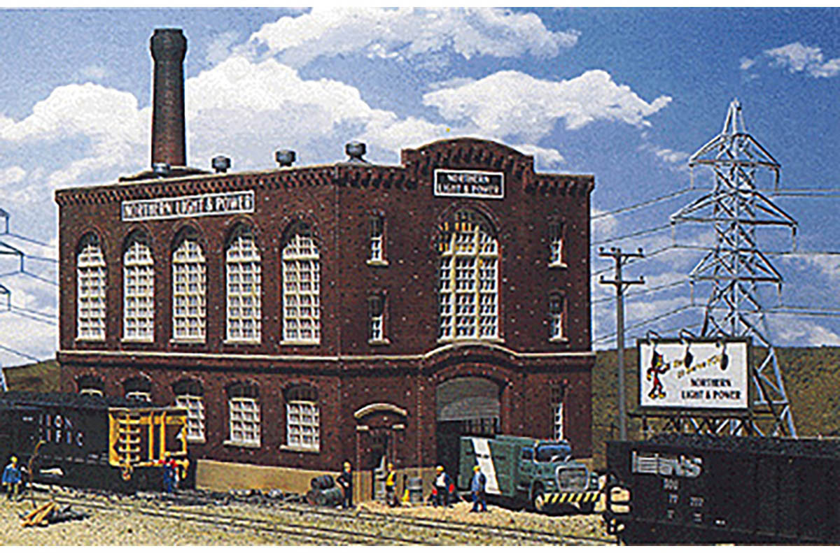 Walthers Cornerstone N Scale Building/Structure Kit Northern Light & Power